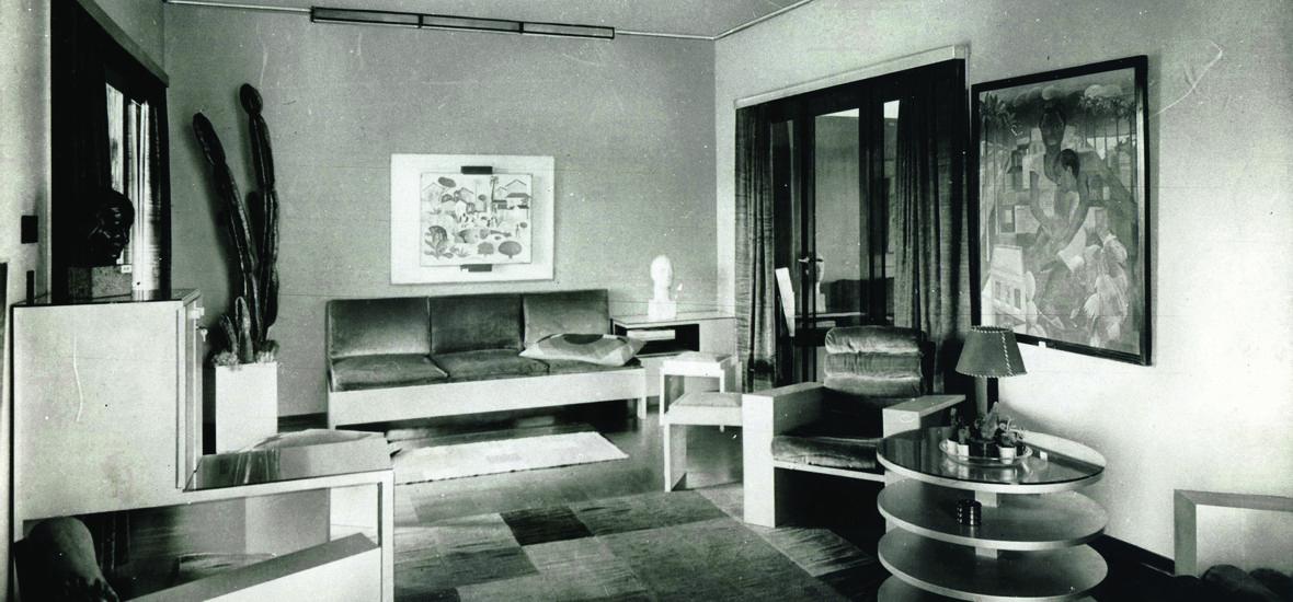 """1 1 05 Interiores da """"Exposição de uma Casa Modernista"""""""